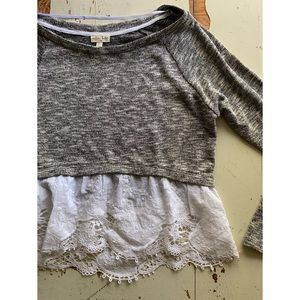 Maison Jules :: knit & lace hem top